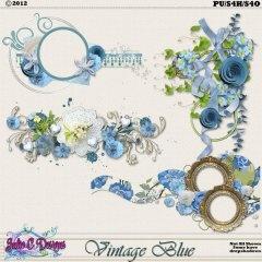Vintage Blue Clusters