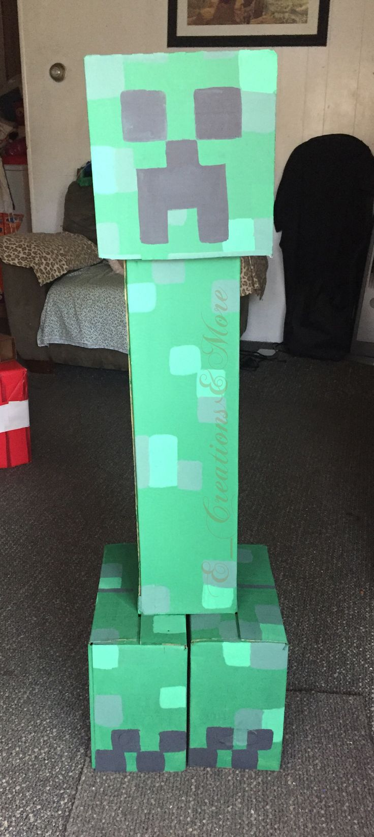 #birthday #partytheme #minecraft #decorations #centerpieces #photoprops #pixels #cardboard #recycling