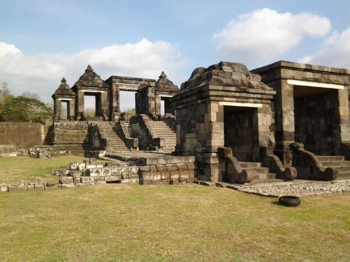 The Boko Temple, a Hindu temple in Yogyakarta, Java.