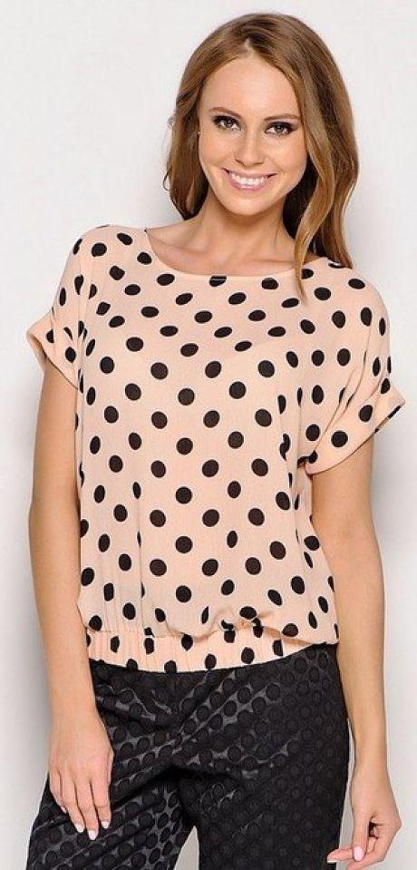 f2c374998b9e681 Пошаговое описание: как сшить блузку с коротким рукавом Предлагаем самый  простой вариант шитья блузы с коротким цельнокроеным рукавом силуэта Т-шот.