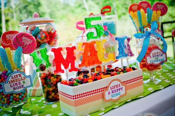 Love these letter suckers spelling out the birthday child's name! More ideas via Kara's Party Ideas. Cute Muppet Themed birthday party!