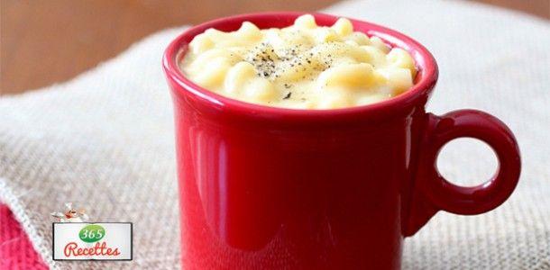 recette facile du Mug cake salé macaroni au fromage et champignons