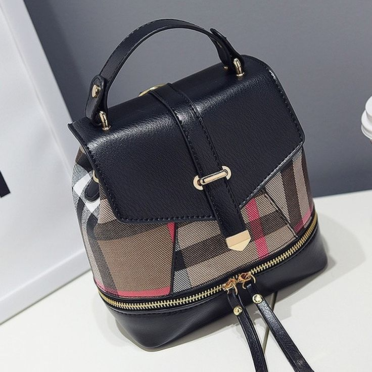 Fashion Plaid Small NEW Casual Ladies Backpack/Purse 3 Colors
