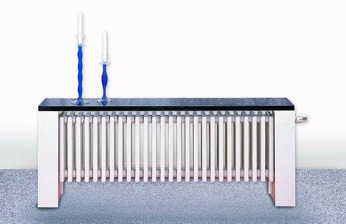 Delta Column Bench V - stylowa ławeczka, która ogrzewa wnętrze