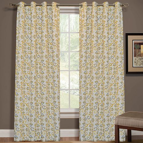 Jefferson window curtain 52 39 39 x 84 39 39 for the home - Grey and yellow living room curtains ...