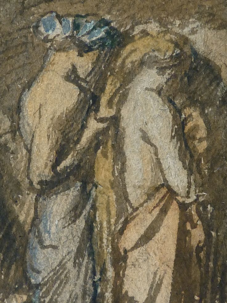 CHASSERIAU Théodore,1840 - Diane et Actéon, Etude - Détail 15