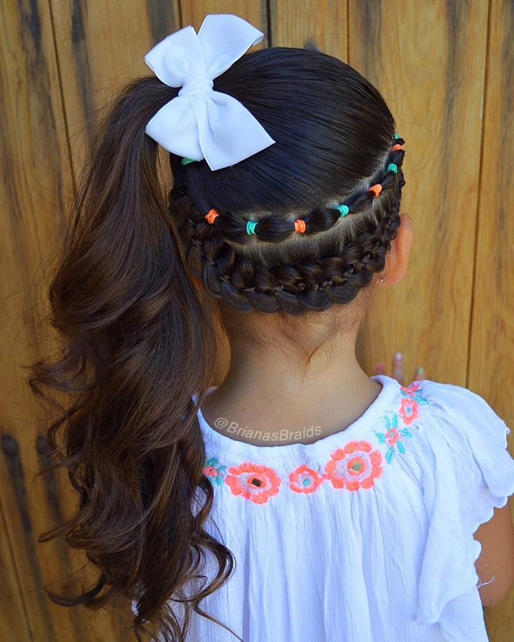 "1,441 curtidas, 67 comentários - Mariya (@brianasbraids) no Instagram: ""Little miss wanted a ponytail today and I added a #fourstrandbraid and a small bubble braid. Cute…"""