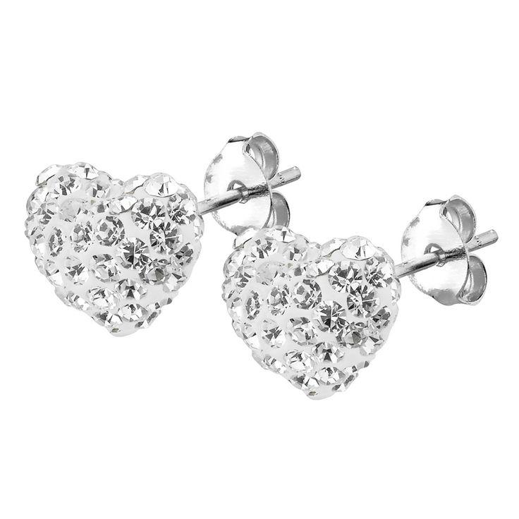 Örhängen i äkta silver med kristaller