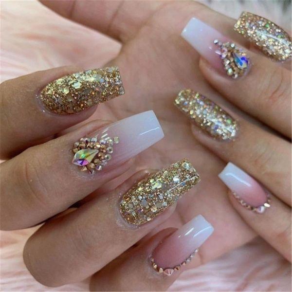 New Style Ladies Fashion Nail Art 5ml Shining Super Platinum Paint Gel Lacquer Soak Off Glitter Uv Led Gel Nail Polish Nail Glue Nail Art Tools Luxury Nails Glue On Nails