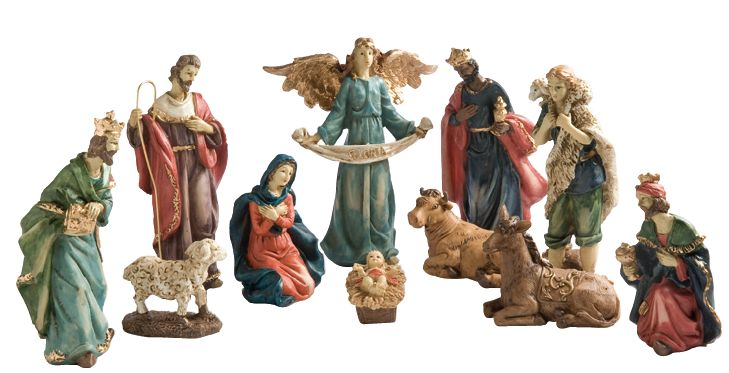 Pesebre cerámica #Navidad #Decoración