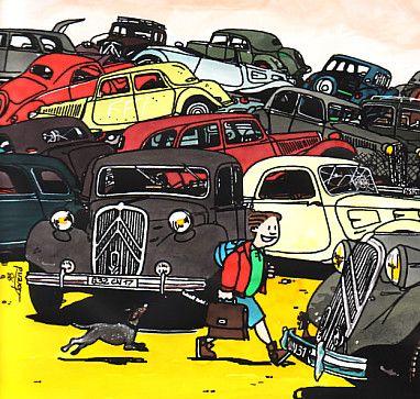 traction rentr e des casses by florend cartoon citro n pinterest traction casse et voitures. Black Bedroom Furniture Sets. Home Design Ideas