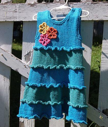 Ravelry: Ruffled Sundress pattern by Jenny Snedeker
