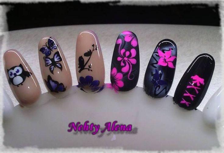Airbrush - nail design dle mě ;) vzorník