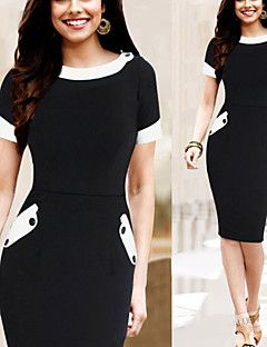 Vita Women's Bodycon Round Short Sleeve Dresses (Cotton Blend). Get thrilling discounts up to 80% Off at Light in the box using coupon & Promo Codes.