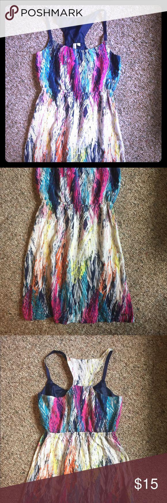Racerback Summer Dress Light weight multi color summer dress with a racerback. Hang Ten Dresses