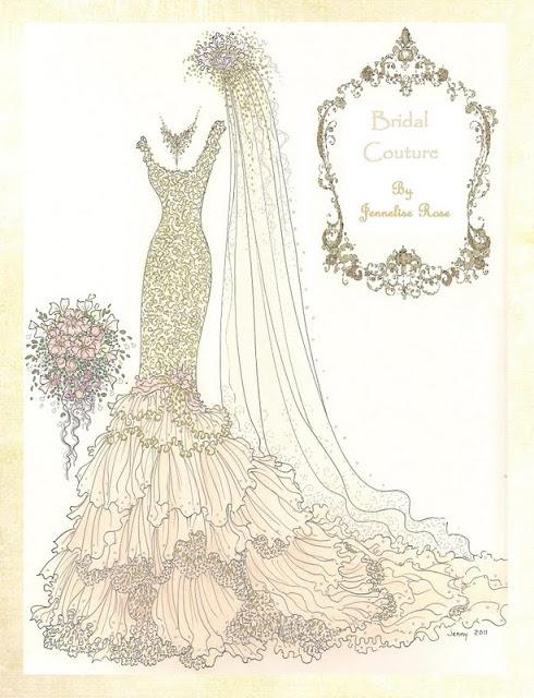 Jennelise: Bridal Bliss - lots of her bridal illustrations. Soooo gorgeous....