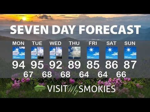 Get the latest Smoky Mountain weather forecast for Gatlinburg and Pigeon Forge. Updated Monday and Friday every week. Get Smoky Mountain travel tips including the best interstate and highway routes.