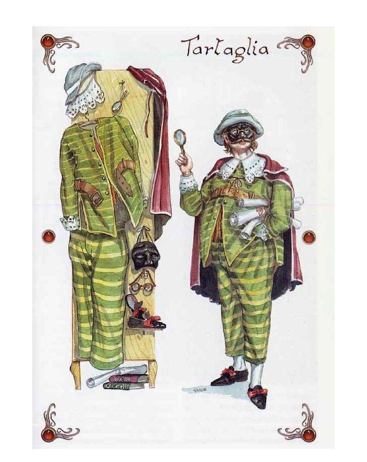 #Tartaglia è una maschera del Sud, rappresenta quello che il bergamasco #Brighella è per #Arlecchino: ovvero il servo più anziano ed esperto, fedele al padrone, un po' pieno di sé e facile da ingannare. A volte ha un ruolo borghese: contabile, notaio, studioso, farmacista.