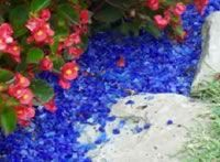 Enviroglas - just saw this glass mulch installed on an HGTV show - Yard Crashers - so cool!