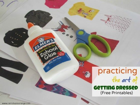 Getting Dressed Activity {Free Printables} for clothing unit