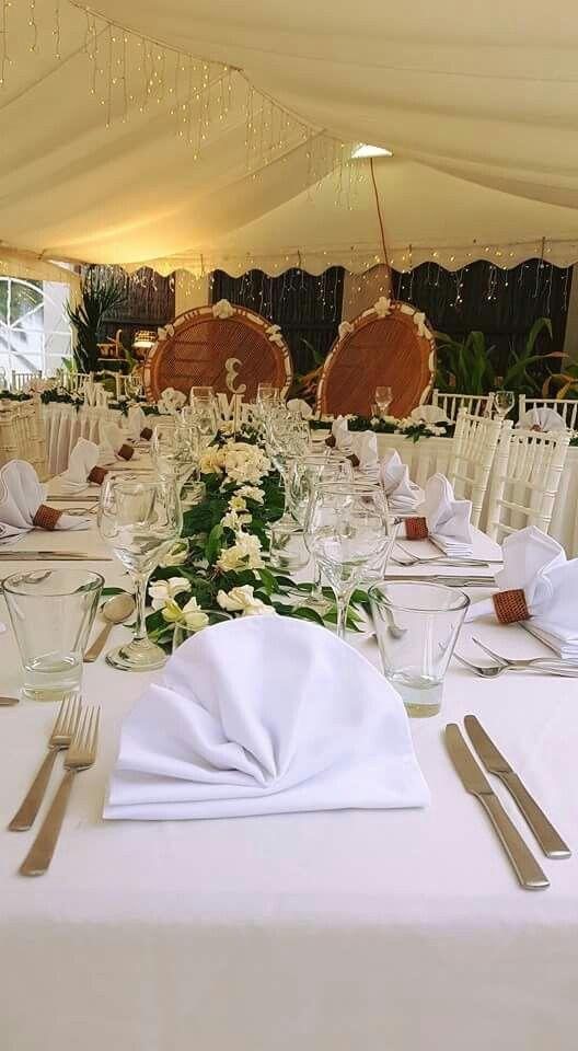 Nautilus Resort Rarotonga - reception table setting