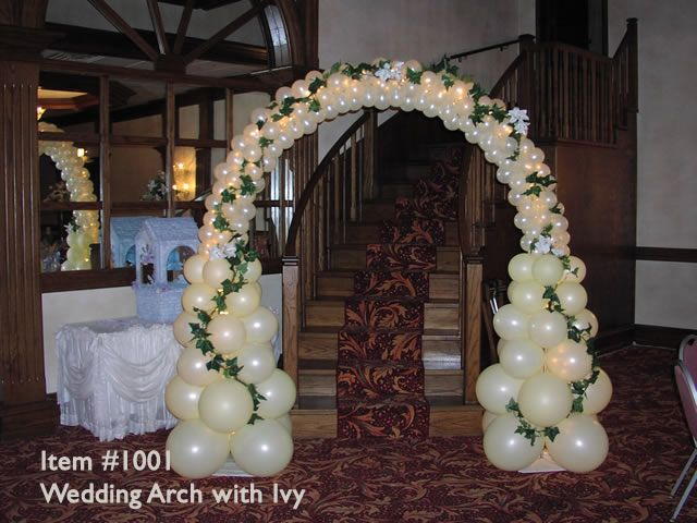 Wedding arch baloon arches 1001 wedding arch with for Balloon decoration book