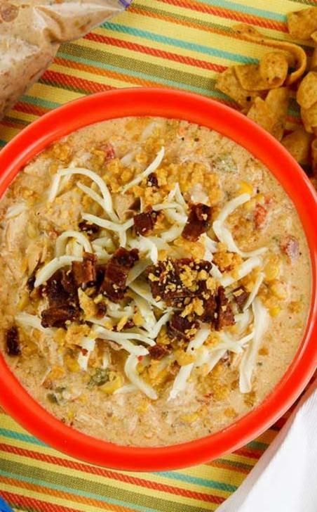 Jazz up your chili with jalapeño and cream cheese in our Slow Cooker Jalapeno Popper Chicken Chili. Topped with pepper jack, this easy dinner is a must try!