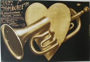 Jazz Jamboree '75 by Jerzy Czerniawski, 1989. Vintage music poster https://www.contemporaryposters.com/