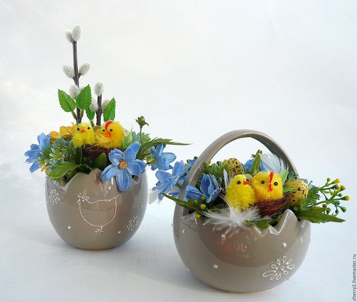 Купить Пасхальные мини-композиции - голубой, Пасха, пасхальный сувенир, пасхальный подарок, пасхальный декор
