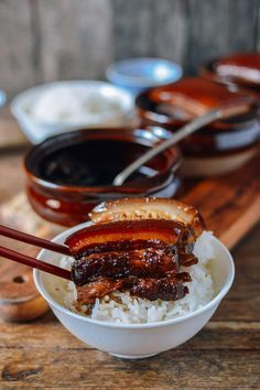 """This braised pork belly recipe, or """"dong po rou"""" in Chinese, is a beautiful, traditional, and incredibly easy dish to make. All you need is 7 ingredients!"""