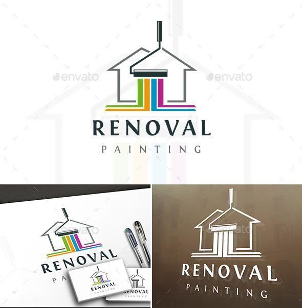 Painting House Logo Painting Logo Home Logo Logo Templates