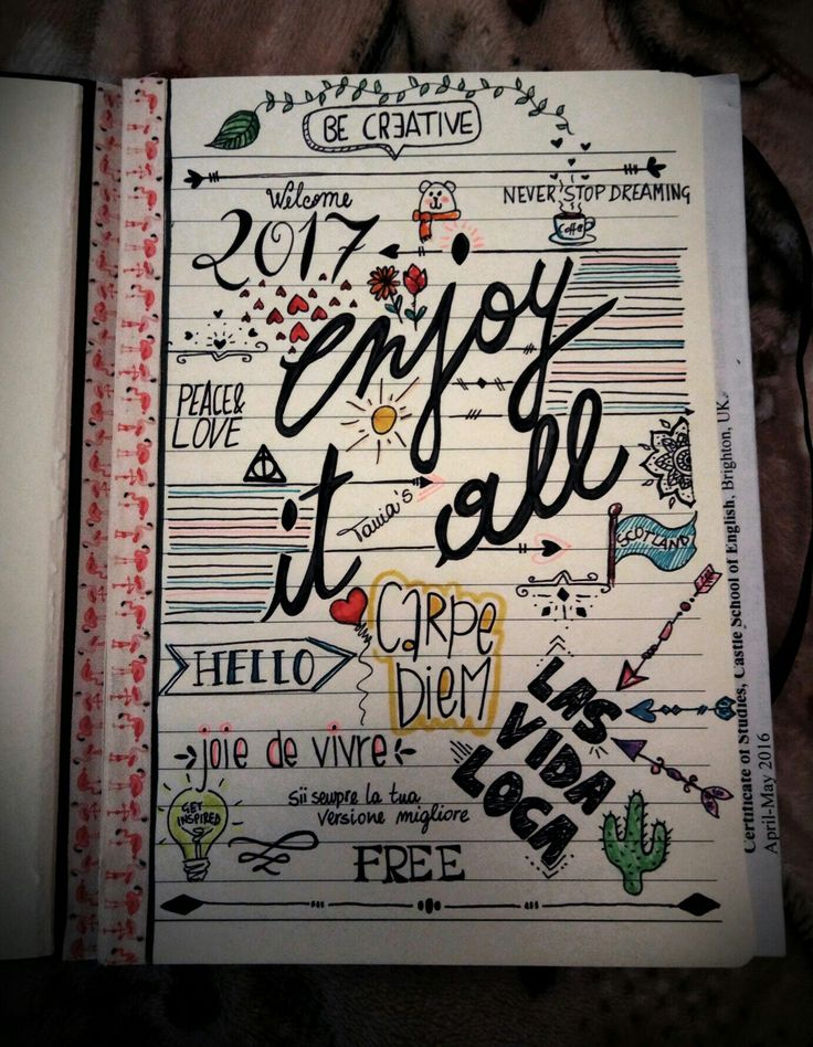 Enjoy it all. Front page for my new notebook. #bealwayscreative #becreativetosurvive #good #enjoy #front