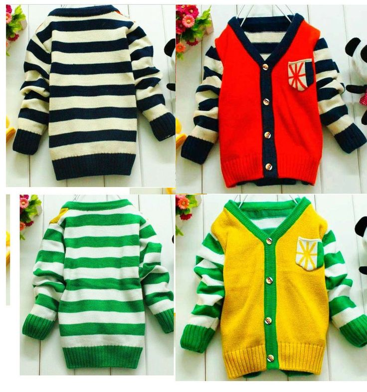 2013 autumn winter new casual long sleeve baby stripe knitted sweater cardigan for boy toddler sweaters 4pcs/lot wholesale