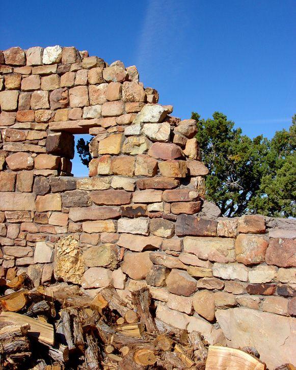Ruined Wall - Overlook Tower, Grand Canyon, AZ