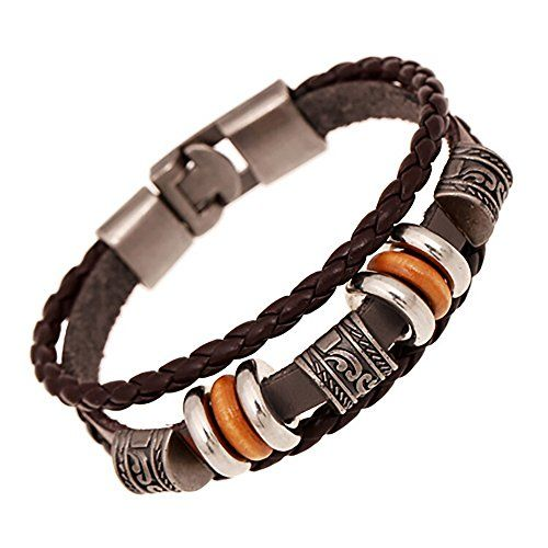 Hand Braided Dark Brown Mutli-strand Leather Wrap Surfer Bracelet with Wood and Metal Charms & Velvet Gift Pouch Mystic Expression http://www.amazon.com/dp/B01AIVW1VG/ref=cm_sw_r_pi_dp_dFyLwb0WVWSPG