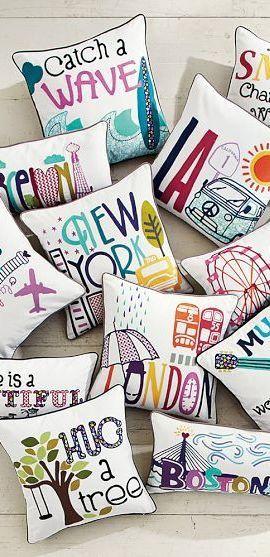 Almohadas que puedes hacer de tu ciudades favoritas