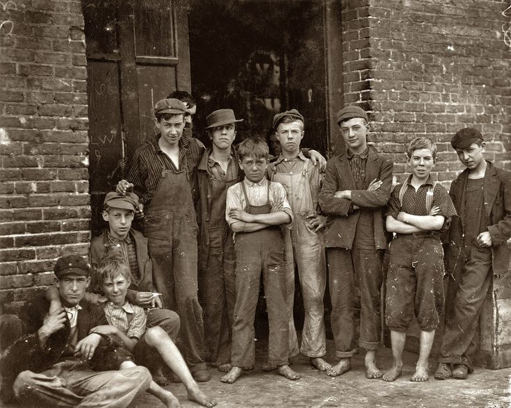 Shorpy Historical Photo Archive :: Vermont Mill Boys: 1910