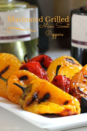 Marinated Grilled Mini Sweet Peppers… an ideal picnic appetizer that's easily portable!