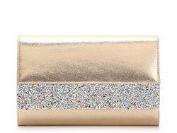Lulu Townsend Glitter Trim Clutch