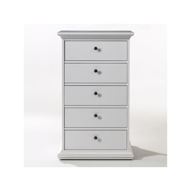 Tvilum Classic 5-Drawer Dresser, White