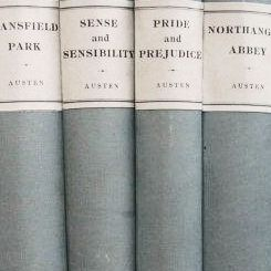 I Iove the nightingale shade of blue of this Jane Austen collection.