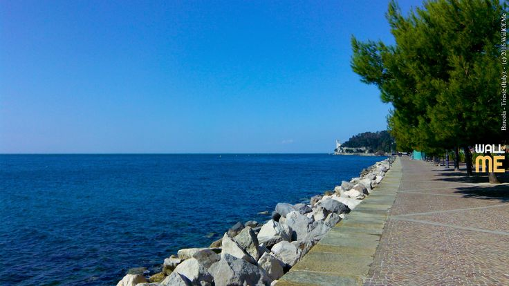 2016, week 17. Barcola, and Miramare Castle - Trieste (Italy). Picture taken: 2016, 03