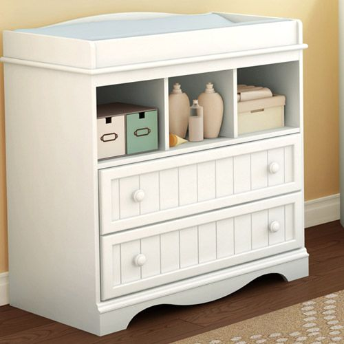 South Shore   Savannah Changing Table And Dresser, Pure White Design Inspirations