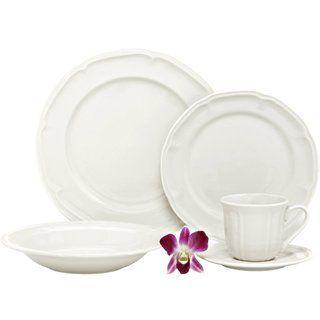 Melange Nouveau Classic Fine White Porcelain Dinnerware Set | Overstock.com Shopping - The Best  sc 1 st  Pinterest & 44 best Dinner set images on Pinterest | Dining sets Dinner sets ...