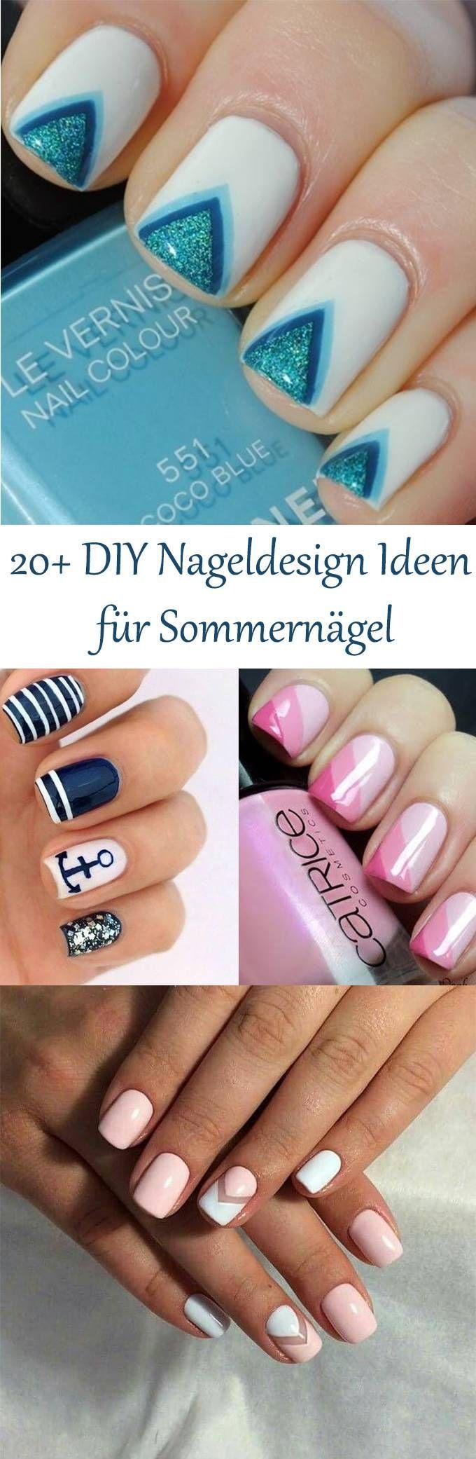 20+ DIY Nail Design Ideen für verträumte Sommernägel – Der Sommer kann kommen – Nail Art – Nagel