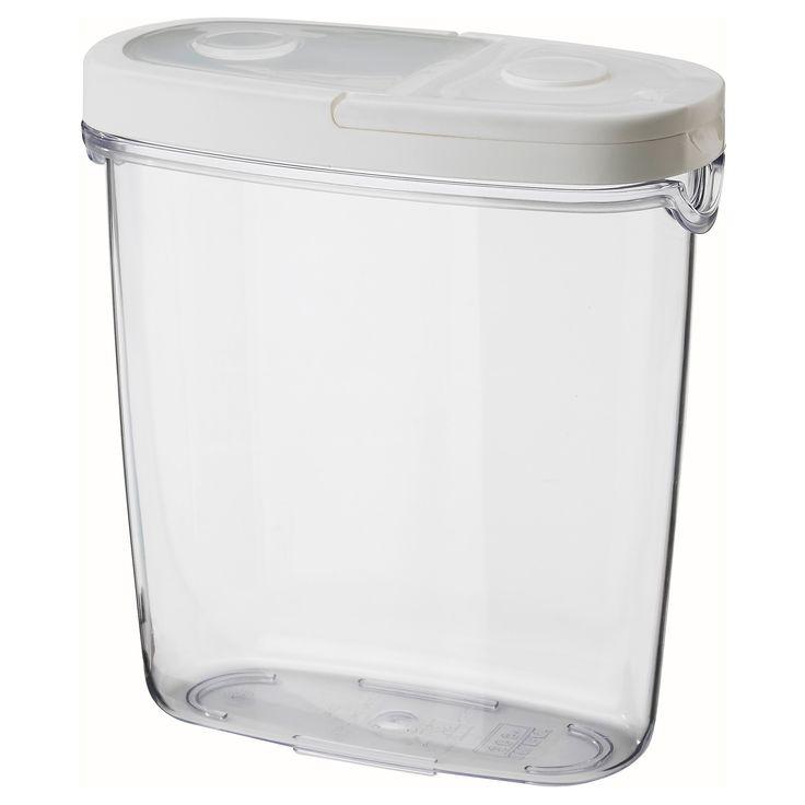 IKEA - IKEA 365+, Boîte avec couvercle, Retirez complétement le couvercle pour remplir la boîte ; ouvrez-le à moitié pour verser plus facilement.Conçu pour offrir une bonne prise en main et vous permettre de tourner et verser en même temps.Récipient transparent pour trouver facilement ce que vous cherchez.En conservant les aliments secs dans des récipients dotés de couvercle hermétique, vous préservez plus longtemps la fraîcheur des aliments et évitez ainsi le gaspillage…