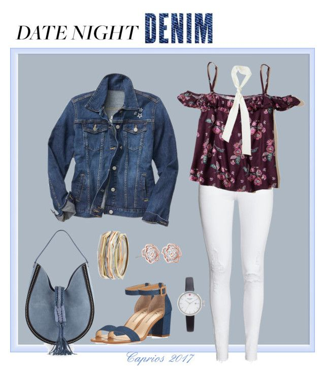 """Date Night Denim"" by caprios ❤ liked on Polyvore featuring Gap, Altuzarra, Hollister Co., Neiman Marcus, Patchington, Kendra Scott, Kate Spade, DateNight, denim and caprios"