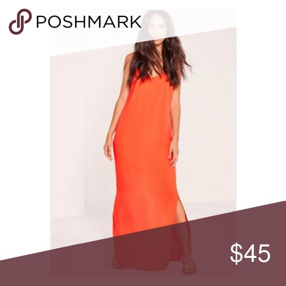 Misguided Orange Maxi Dress Neon orange Maxi dress from Misguided. Polyester material. Perfect for a beach vacation! ▶️ Bundle with another item, and get additional 10% off! Dresses Maxi