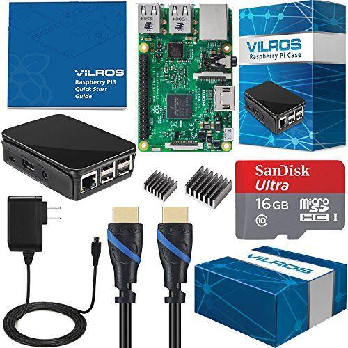 Vilros Raspberry Pi 3 Complete Starter Kit--Black Case Ed...