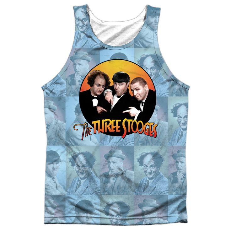 """Checkout our #LicensedGear products FREE SHIPPING + 10% OFF Coupon Code """"Official"""" Three Stooges/portraits -adult 100% Poly Tank T- Shirt - Three Stooges/portraits -adult 100% Poly Tank T- Shirt - Price: $24.99. Buy now at https://officiallylicensedgear.com/three-stooges-portraits-adult-100-poly-tank-shirt-licensed"""